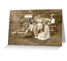 Vintage Picnic Greeting Card