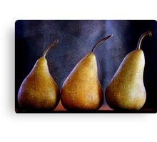 Playing with Pears Canvas Print