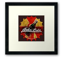 Fallout Nuka Cola red and yellow cap logo Framed Print