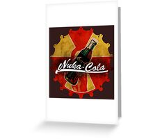 Fallout Nuka Cola red and yellow cap logo Greeting Card