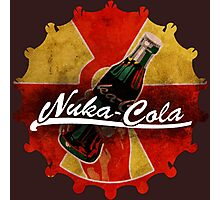 Fallout Nuka Cola red and yellow cap logo Photographic Print
