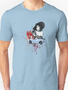 old vintage chic red heels collage  Unisex T-Shirt