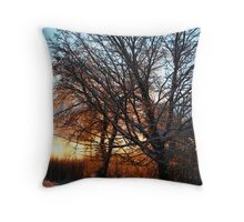 REDREAMING WINTER TREE Throw Pillow