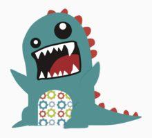 Monster Grunge Blueby Sticker by David & Kristine Masterson