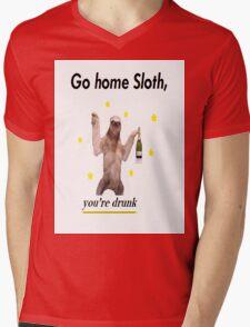 Go home Sloth, you're drunk Mens V-Neck T-Shirt