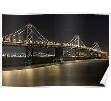 Bay Bridge at Night I Poster
