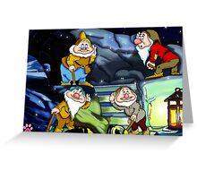 4 Dwarves Greeting Card