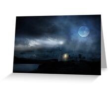 The Moon Touches Your Shoulder Greeting Card