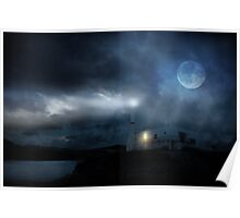 The Moon Touches Your Shoulder Poster
