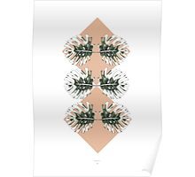 Monstera Abstract Poster