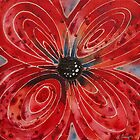 Red Flower 2 - Vibrant Red Floral Art by Sharon Cummings