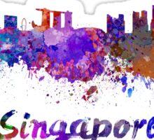Singapore skyline in watercolor Sticker