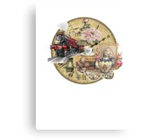 old-timey tea time Canvas Print