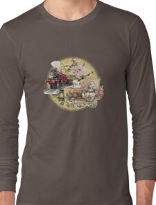 old-timey tea time Long Sleeve T-Shirt