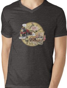 old-timey tea time Mens V-Neck T-Shirt