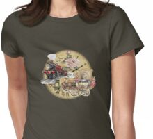old-timey tea time Womens Fitted T-Shirt