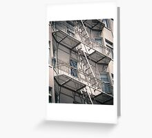 Exterior stairs. Greeting Card