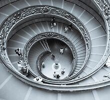 Spiral, staircase desaturated selenium tone. by brians101