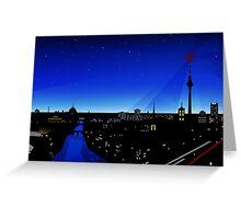 Berlin City lights Greeting Card