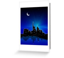 Frankfurt am Main City line Greeting Card
