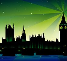 London Big Ben and house of parliament by Sandra Höfer