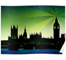 London Big Ben and house of parliament Poster