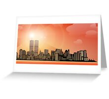 Old New York City Line Greeting Card