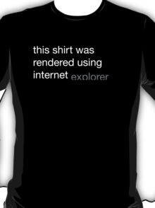 Internet Explorer T-Shirt