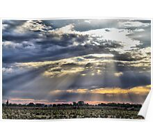 hay plains sunset Poster