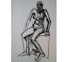 Bec semi seated position Photographic Print