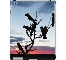 Red-tailed Black Cockatoos in a Desert Sunset iPad Case/Skin