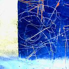 Found Abstract in Blue by Harvey Schiller