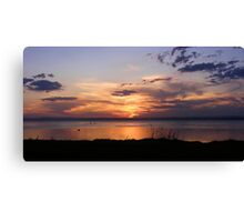 Canton Beach Sunset Canvas Print
