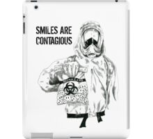 Smiles are contagious (w/ black text) iPad Case/Skin