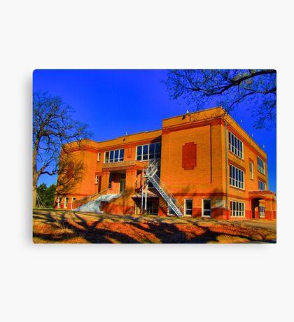 Abandoned Elementary School - Sherman, Texas, USA Canvas Print
