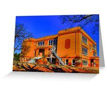 Abandoned Elementary School - Sherman, Texas, USA Greeting Card