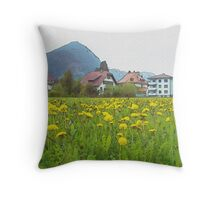 Fragrance Of The Meadow (Watercolor) Throw Pillow
