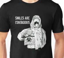 Smiles are contagious (w/ white text) Unisex T-Shirt