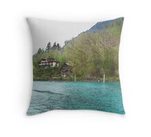 Tranquility (Watercolor) Throw Pillow