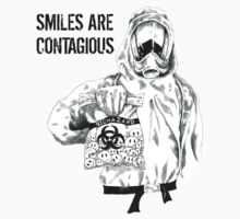 Smiles are contagious (w/ black text) by themagpieprince
