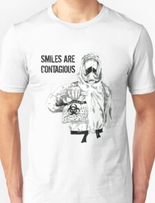 Smiles are contagious (w/ black text) T-Shirt