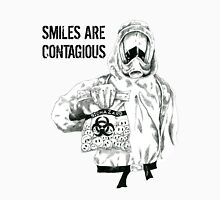 Smiles are contagious (w/ black text) Unisex T-Shirt