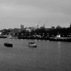 The Thames on a cold March evening  by KarenJI1962