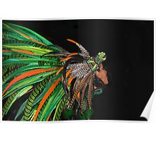 Aztec Traditional Feathers Poster