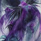 """""""Turbulent"""" Abstract Watercolor Painting by Brandon  Dover"""