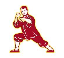 Shaolin Kung Fu Martial Arts Master Retro by patrimonio
