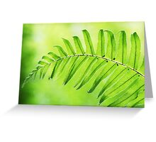 Lime Green Fern Leaf  Greeting Card