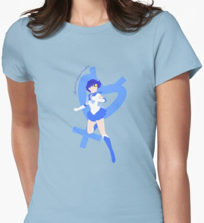 Agent of Water and Wisdom, Sailor Mercury Womens Fitted T-Shirt
