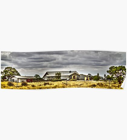 Shearing shed, Shear Outback Hay Poster