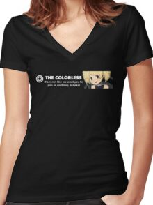The Colorless Design 1337 front 2 Women's Fitted V-Neck T-Shirt